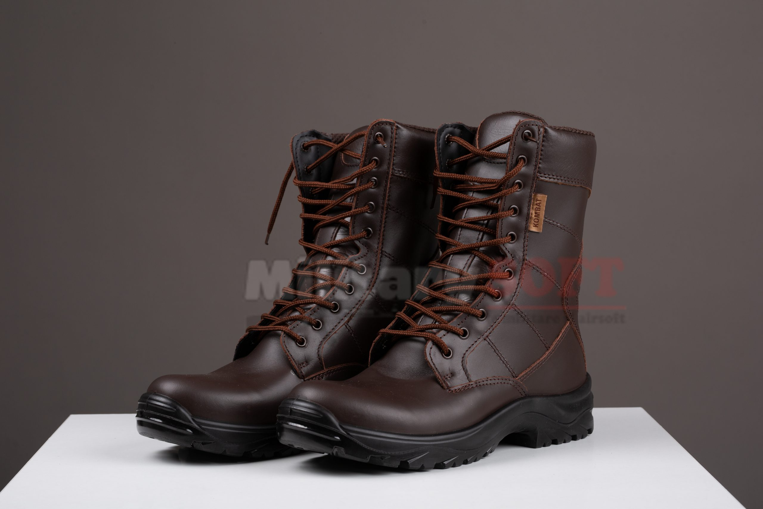 100% calitate superioară livrare rapidă frumosi pantofi bocanci militari din piele maro pentru armata din piele